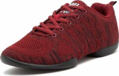 Rode Danssneakers Laag Anna Kern Suny 4035-bold - Heren Sport Sneakers - Salsa, Balfolk, Stijldansen - Maat 43