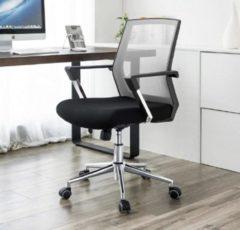 Merkloos / Sans marque MIRA Home - Bureaustoel voor volwassenen - Computerstoel - Armleuning - Zwart - 60.6x55.8x31