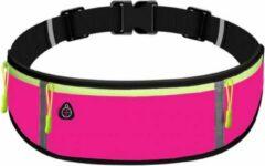 Marjaqe Sport Heupband - Hardloopband Telefoon - Sportband - Hardloop Riem - Heuptas - Unisex/Onesize - Running belt - Roze