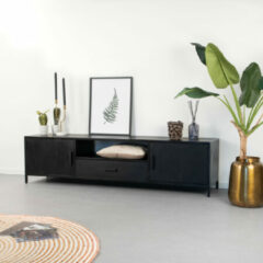 LivingFurn TV-meubel 'Kala' kleur Zwart, 180 cm