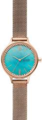 Skagen SKW2977 Horloge Anita Mesh staal rosekleurig-aquablauw 30 mm