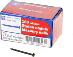 Klusgereedschapshop Stalen nagel bombe kop 40 x 2.5mm