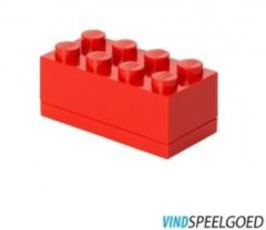 Rode Room Copenhagen Lego Classic Lunchbox - Mini 8 - 4,6 x 9,2 x 4,3 cm - Rood