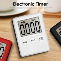 Witte Missan Online Kookwekker - (Alarmklok) Digitale kookwekker - Klok - Timer - Alarmklok