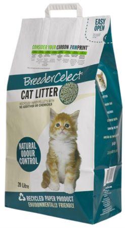 Afbeelding van Breedercelect Kattenbakvulling 100 Procent Recycled - Kattenbakvulling - 20 l