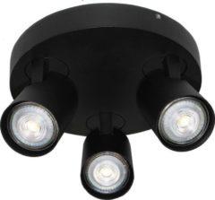 Merkloos / Sans marque Artdelight Spot Vivaro 3 lichts rond Ø 21 cm zwart