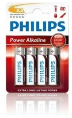 Rode Philips batterijen Penlite LR06 powerlife 1.5V AA per 4 stuks