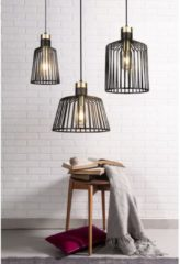 Zwarte Home24 Hanglamp Bird Cage II, searchlight