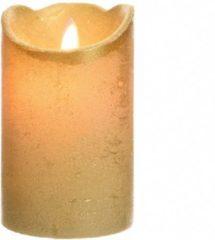 Lumineo LED kaars wax flakkerend 12.5cm goud