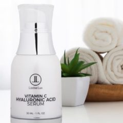 LimberLux Vitamine C serum met Hyaluronzuur en Aloë Vera in airless pump fles - Hydraterende anti aging collageen gezichtscrème - anti acne gezichtsverzorging - anti rimpel gezichtsserum - gezicht serum