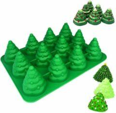 Rode Holy Moldy Brick Hunters Siliconen Cake en Muffinvorm - Kerstboompjes