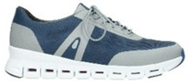 Afbeelding van Blauwe Lage Sneakers Wolky 02050 Nano - 90820 denim-grijs mesh bovenwerk
