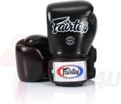 Fairtex (kick)bokshandschoenen Tight Fit Zwart 14oz