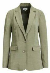 Donkergroene WE Fashion Dames blazer met structuur