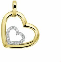 Goudkleurige Huiscollectie Tomylo Geelgouden hanger hart zirconia 4207726