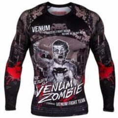 Zwarte Venum Kleding Zombie Return Rash Guard L/S Compression Shirts maat M