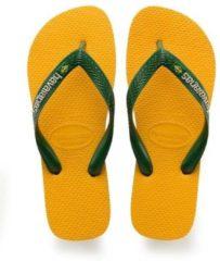 Gele Havaianas Brasil Logo Unisex Slippers - Banana Yellow - Maat 27/28