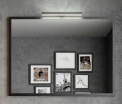 Muebles Davinci 100x50cm spiegel met zwart aluminium frame