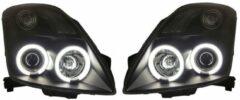 Set koplampen passend voor Suzuki Swift II 2005-2010 - Zwart - incl. CCFL Angel-Eyes