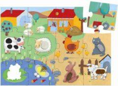 Djeco Voelpuzzel boerderij - 12 stukjes