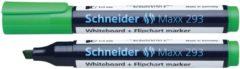 Boardmarker Schneider Maxx 293 beitelpunt 2-5 mm groen