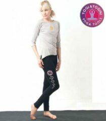 Yogi & Yogini Yoga-legging 'Asana' Katoen Zwart L