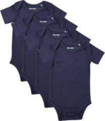 Dirkje Unisex Set(4delig) Rompers Korte Mouw Blauw - Maat 74/80