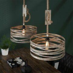 Grijze Easy Furn Hanglamp Bilbao - Dubbel