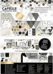 Witte Papermania: Capsule - Geometric Mono - A4 Ultimate Die-cut & Paper Pack (48pk) (PMA 160240)