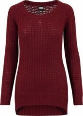 Bordeauxrode Urban classics Trui -Sweater - Wideneck Sweater - Modern - Trui Dames Sweater Maat S