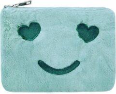 Yehwang Vrolijk Make-up tasje groen met ritssluiting - lekker zacht - handig mee te nemen - koop hem voor uzelf of Bestel Een Kado