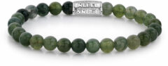 Rebel & Rose Rebel and Rose RR-60034-S Rekarmband Beads Secret Garden groen-zilverkleurig 6 mm XS 16,5 cm