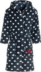 Playshoes - Kid's Fleece-Bademantel maat 122/128, purper/zwart/rood/blauw/blauw/blauw/olijfgroen/zwart/zwart/grijs