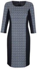 Kleid Alba Moda Blau/Hellgrau