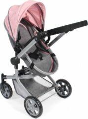 Bayer Chic Poppenwagen Mika combi (lichtgrijs/roze)