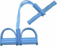VKTECH Fitness pedaal trainer bands/ home trainer/ fitness elastisch zitten (kleur blauw)