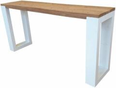 Bruine Wood4you - Wandtafel enkel Roastedwood 200Lx78HX38D cm