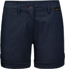 Donkerblauwe Jack Wolfskin Desert Shorts W Outdoorbroek Dames - Midnight Blue - Maat 36