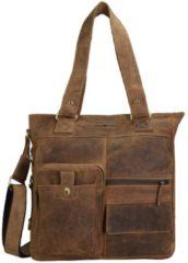 Vintage Schultertasche Leder 39 cm Greenburry brown