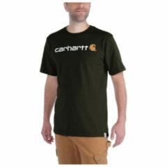 Carhartt - Core Logo T-Shirt S/S - T-shirt maat M, grijs/zwart/grijs/zwart/zwart/purper/blauw/beige/rood/blauw/zwar