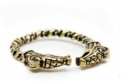 Spiru Verstelbare Viking Ring Goudkleurige Draak