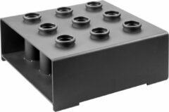 Zwarte PTessentials PT Essentials 9-bar holder - opbergsysteem voor halterstangen - verticaal barbbell rack