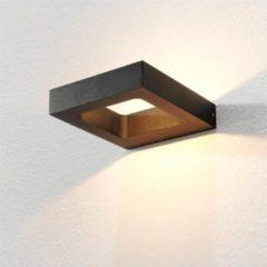 Merkloos / Sans marque Artdelight - Wandlamp Carré - Zwart - LED 4W 2700K - IP54 > wandlamp binnen | wandlamp buiten | wandlamp zwart | muurlamp | led lamp