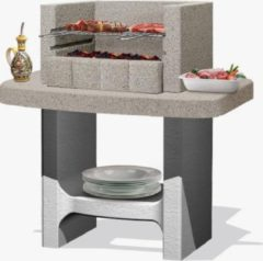 Grijze Sarom Fuoco - Betonnen barbecue - Siena - 78 x 55 x 94 cm