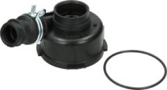Whirlpool Pumpenkopf für Umwälzpumpe (mit Dichtung, Schlauch und Schlauchschelle) für Geschirrspüler 481236018545