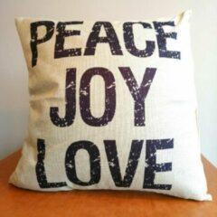 Witte ZAWAdeals - Cool-Zawadi Sierkussen PEACE JOY LOVE