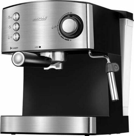 Afbeelding van Roestvrijstalen MPM Espressomachine | Cappuccinomachine | RVS | Geschikt voor gemalen bonen