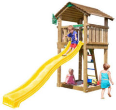 Gele Jungle Gym Cottage speeltoestel
