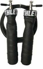 ATHLETIX® Premium Springtouw met Kogellagers - met Draagtas & Extra Kabel - Speedrope - 3m - Zwart