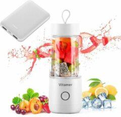 Vitamer Blender 350 ml incl. Powerbank - Mini blender voor onderweg- Draagbare Blender - Wit